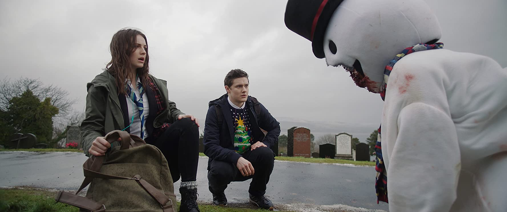 Ella Hunt, Malcolm Cumming, and Callum Johnstone in Anna and the Apocalypse (2017)
