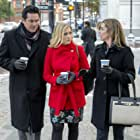 Dean Cain, Cynthia Gibb, and Melissa Joan Hart in Broadcasting Christmas (2016)