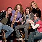 D.B. Sweeney, Elizabeth Perkins, Hallee Hirsh, Jessica Sharzer, and Kristen Stewart at an event for Speak (2004)