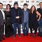 Tia Lessin, Michael Moore, Tom Ortenberg, Carl Deal, Basel Hamdan, and Meghan O'Hara at an event for Fahrenheit 11/9 (2018)