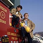 """""""Emergency!""""Kevin Tighe, Randolph Mantooth1972** H.L. Color, Television, NBC, Los Angeles County Fire Department, Oxygen, Uniform, Fireman, Firemen, Rescue Squad, California License Plate, Entertainment mptv_2018_May_to_August_Update"""