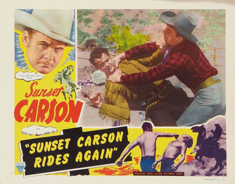 Sunset Carson, John Cason, and Stephen Keyes in Sunset Carson Rides Again (1948)