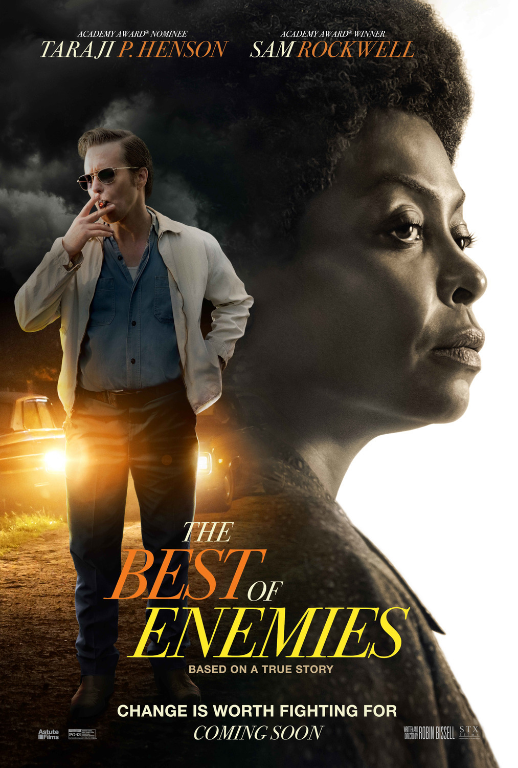 Image result for the best of enemies poster