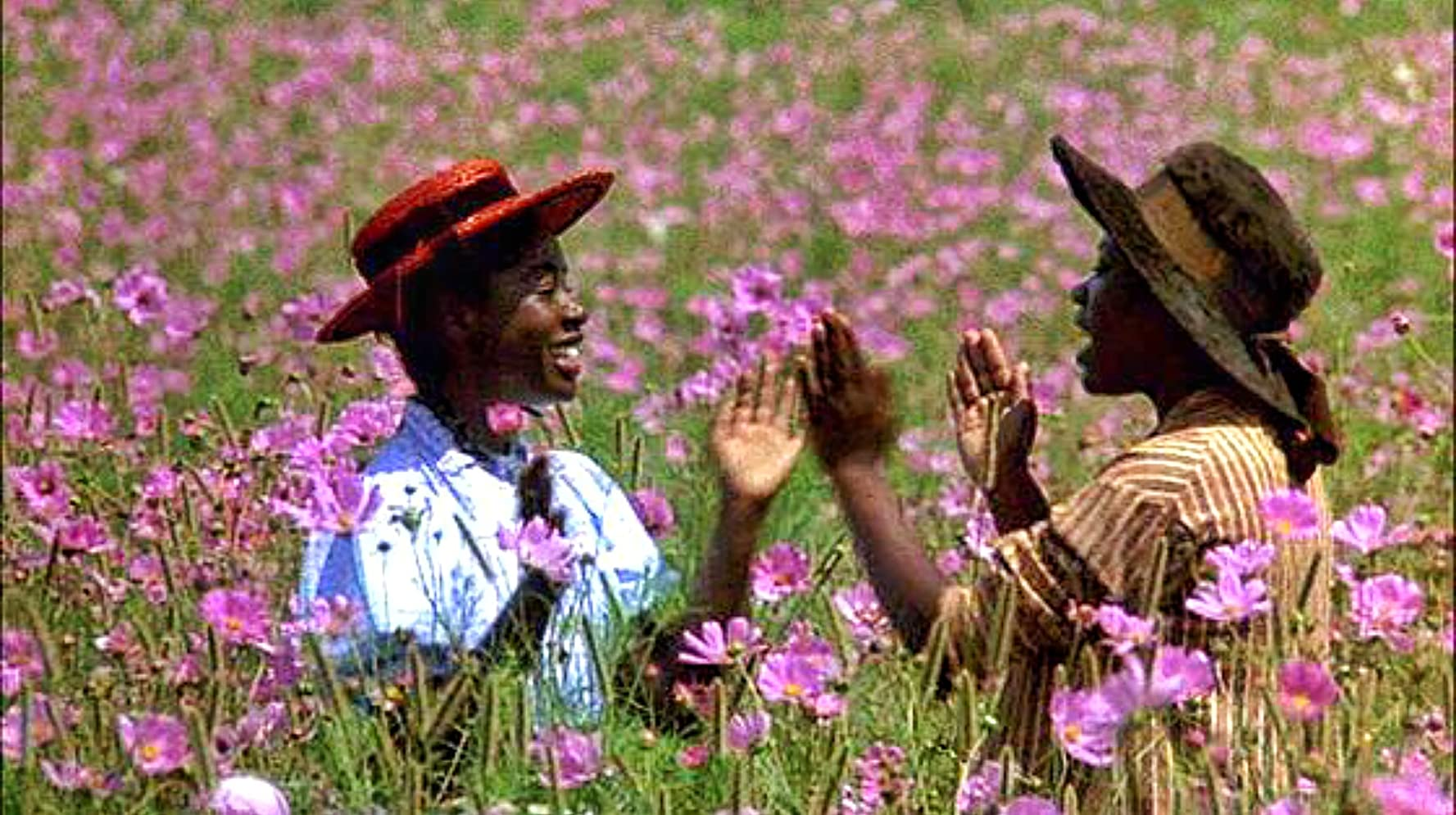 Akosua Busia and Desreta Jackson in The Color Purple (1985)