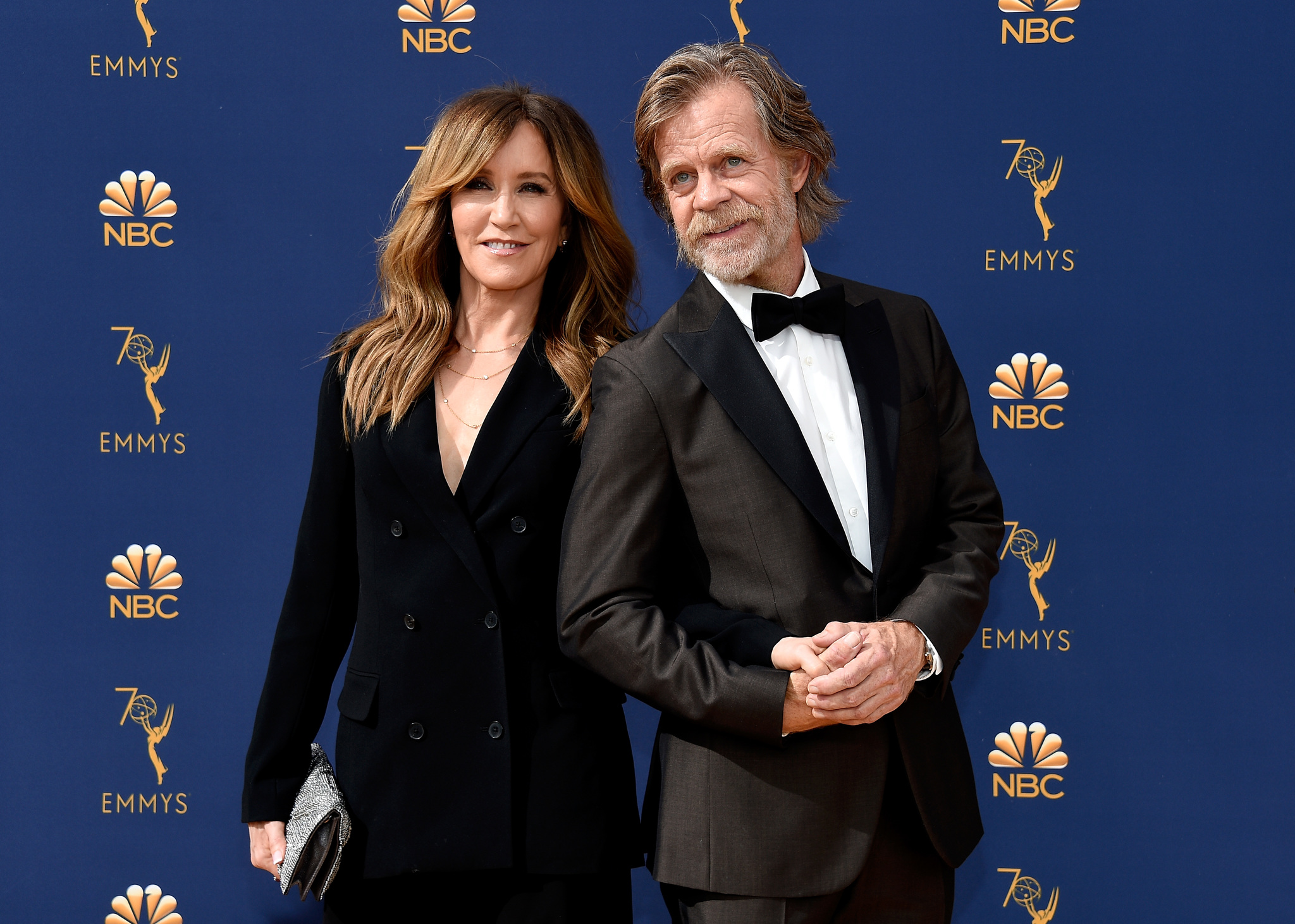 William H. Macy and Felicity Huffman at an event for The 70th Primetime Emmy Awards (2018)