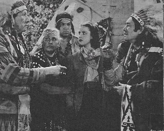 Chief John Big Tree, Gertrude Chorre, Sonny Chorre, Eleanor Hansen, and Charles Stevens in Flaming Frontiers (1938)
