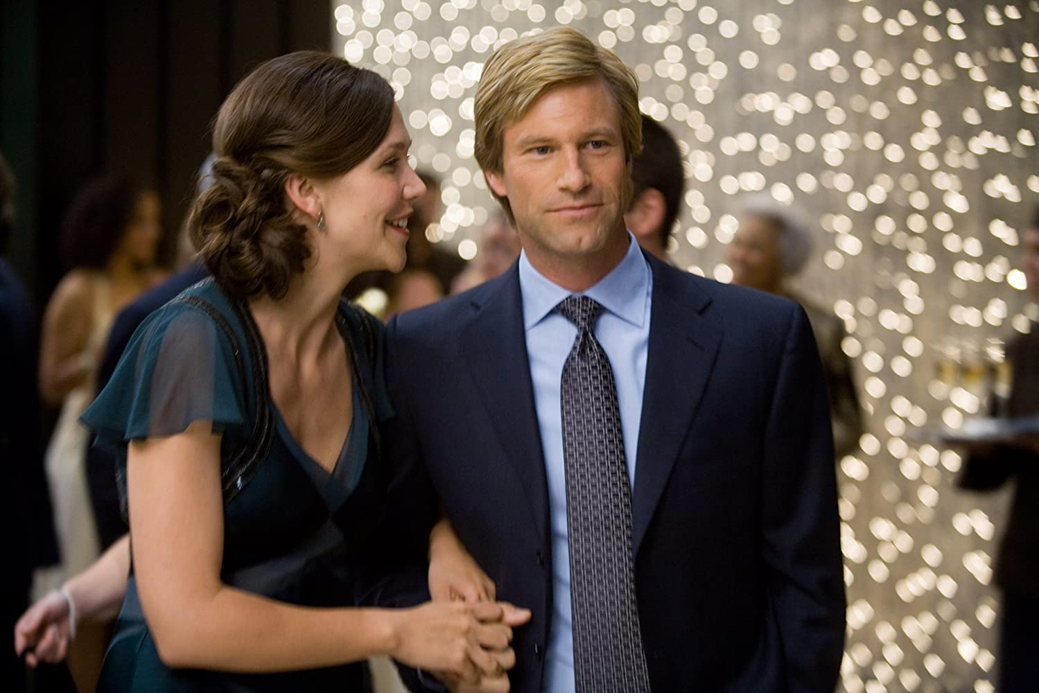 Aaron Eckhart and Maggie Gyllenhaal in The Dark Knight (2008)