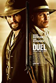Woody Harrelson and Liam Hemsworth in The Duel (2016)