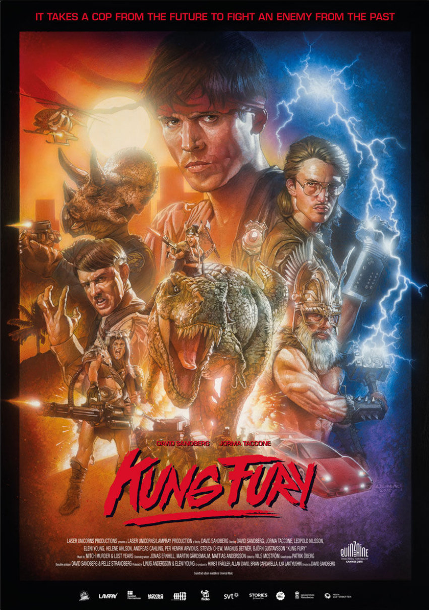 """Action Comedy Cult Fighting Crime Movie 24/""""x34/"""" Poster 010 Kung Fury"""