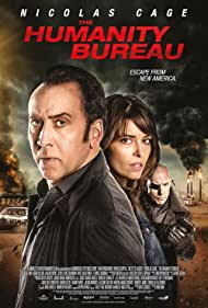 Nicolas Cage, Hugh Dillon, and Sarah Lind in The Humanity Bureau (2017)