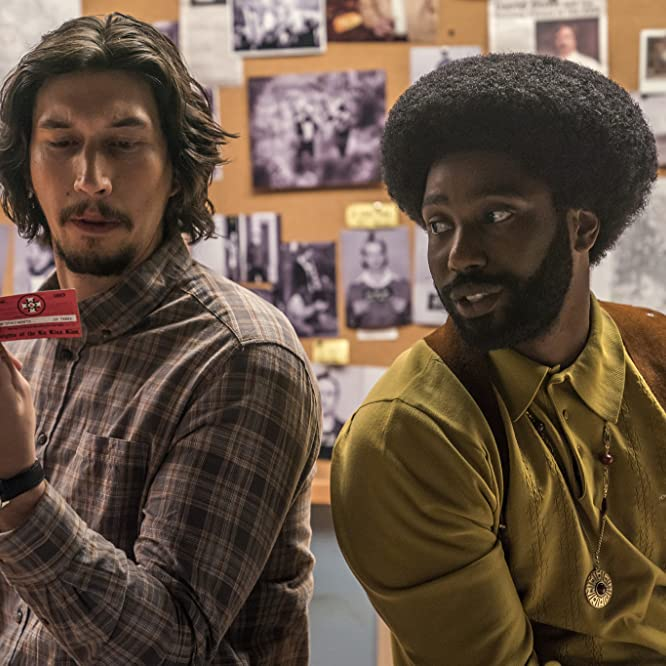 John David Washington and Adam Driver in BlacKkKlansman (2018)