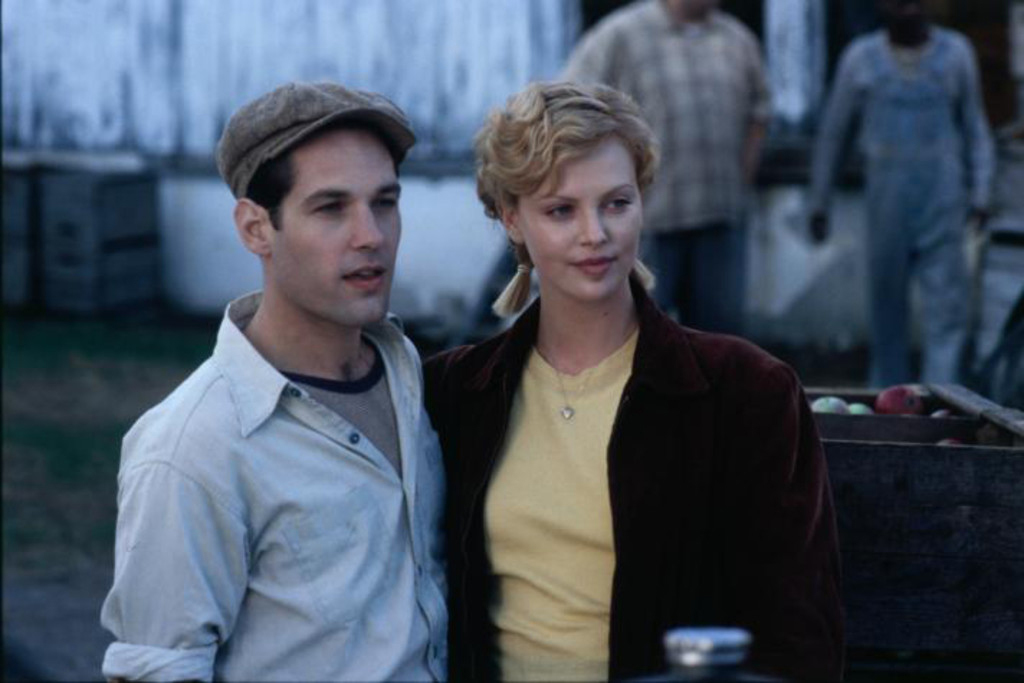 Charlize Theron and Paul Rudd in The Cider House Rules (1999)