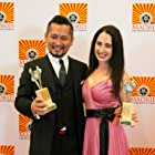 Best Foreign Director Kenshow Onodera and Best Actress Catherine Black 2014 Madrid International Film Festival