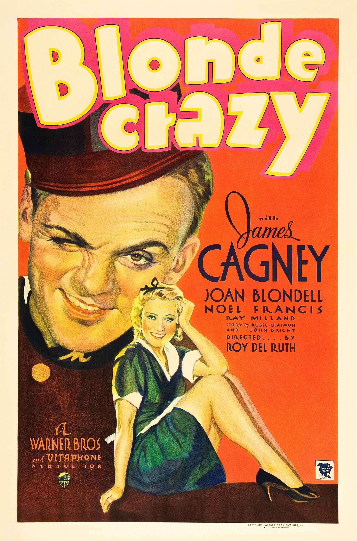 Blonde crazy James Cagney Joan Blondell movie poster