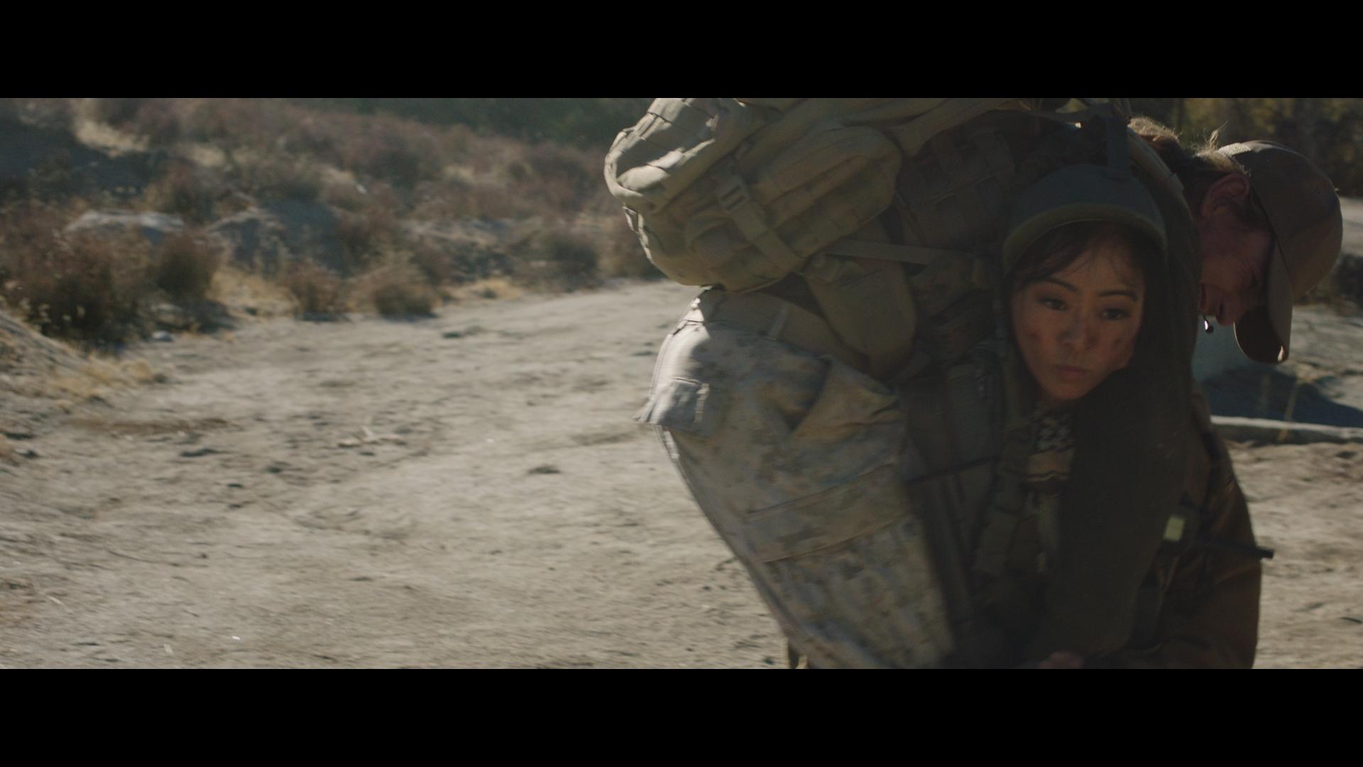 """""""Tango Down"""" - Julia Ling fireman carrying Ryan Stuart"""
