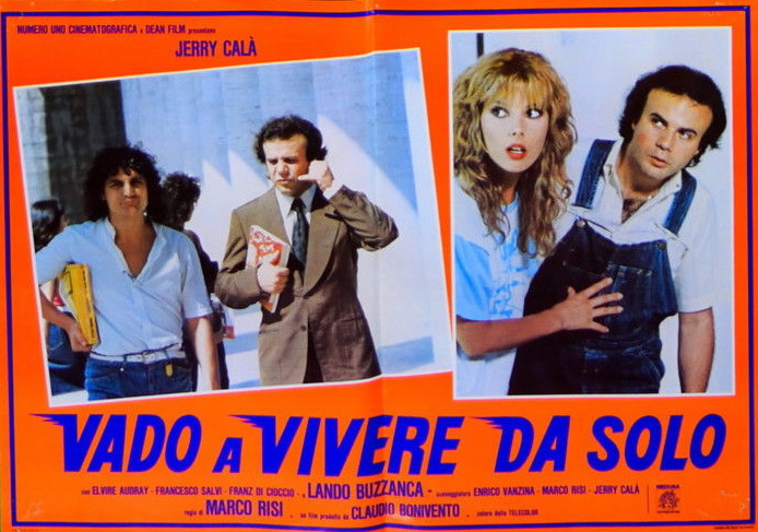 Elvire Audray, Jerry Calà, and Francesco Salvi in Vado a vivere da solo (1982)