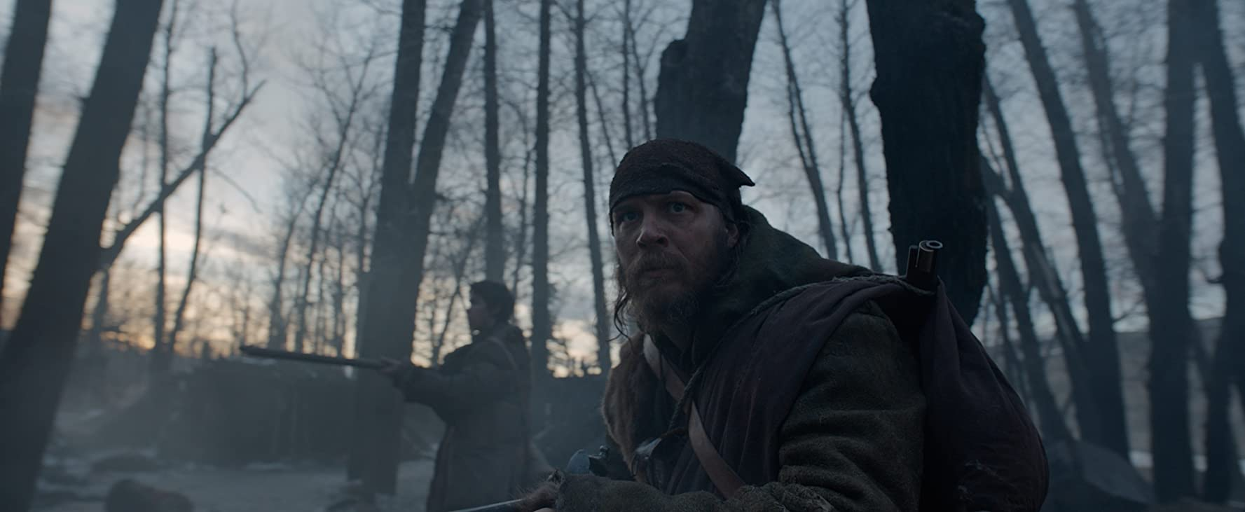 Tom Hardy and Will Poulter in The Revenant (2015)
