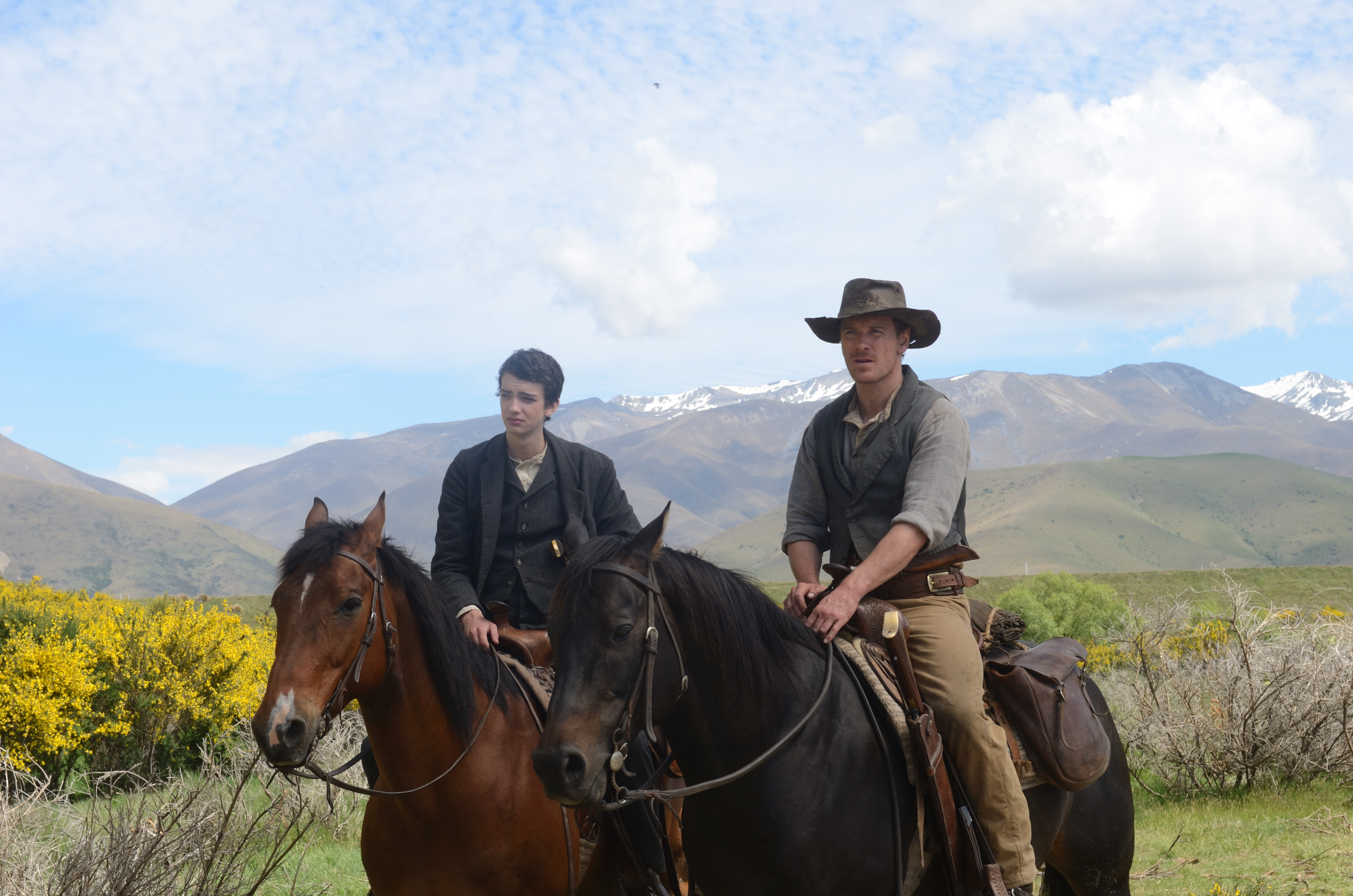 Michael Fassbender and Kodi Smit-McPhee in Slow West (2015)