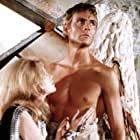 Jane Fonda and John Phillip Law in Barbarella (1968)