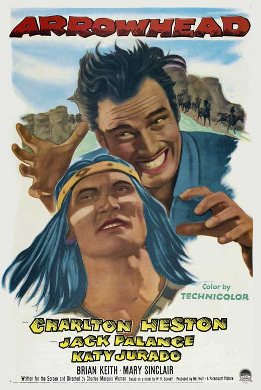 Charlton Heston and Jack Palance in Arrowhead (1953)