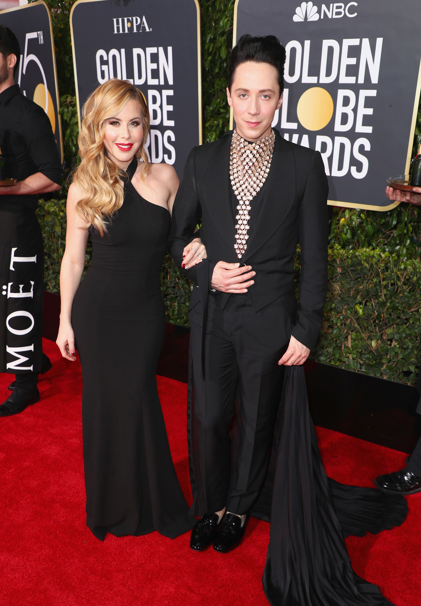 Tara Lipinski and Johnny Weir at an event for The 75th Annual Golden Globe Awards 2018 (2018)