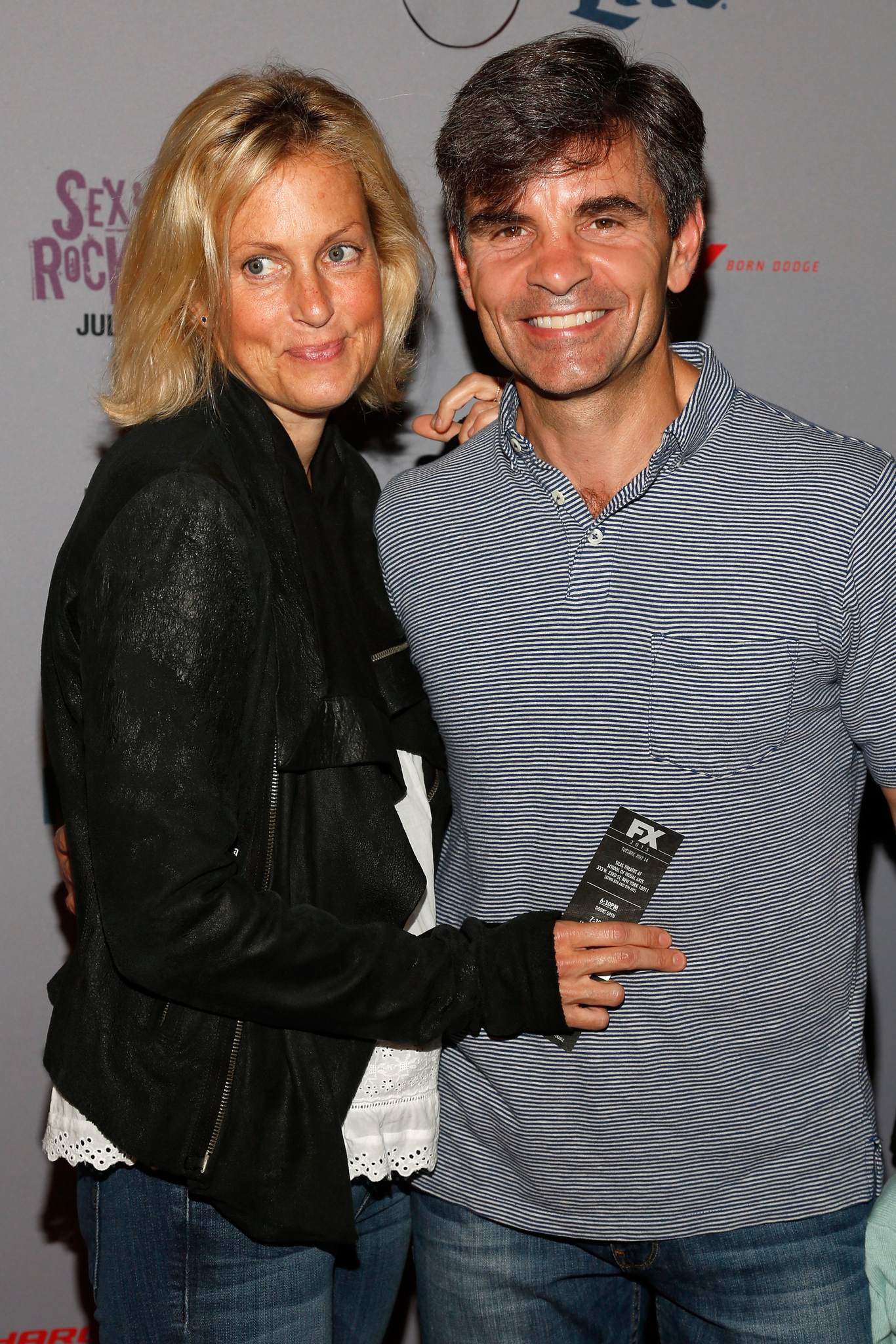 Alexandra Wentworth and George Stephanopoulos at an event for Sex & Drugs & Rock & Roll (2015)