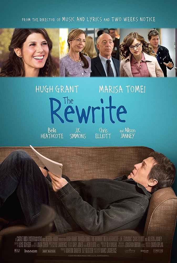 Hugh Grant, Marisa Tomei, Allison Janney, J.K. Simmons, and Bella Heathcote in The Rewrite (2014)