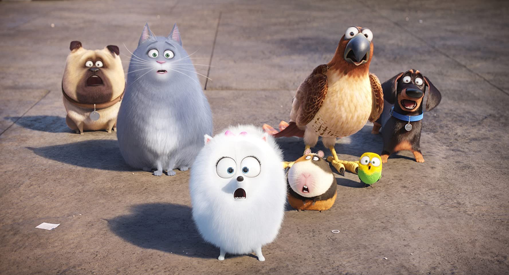 Albert Brooks, Tara Strong, Chris Renaud, Lake Bell, Bobby Moynihan, Jenny Slate, and Hannibal Buress in The Secret Life of Pets (2016)