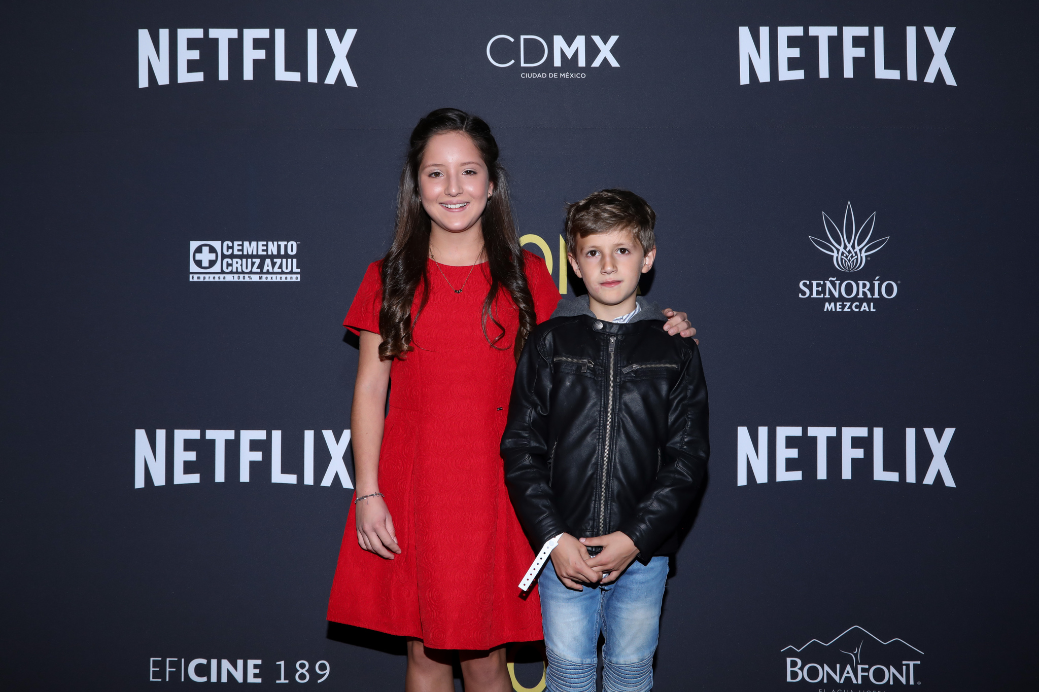 Marco Graf and Daniela Demesa at an event for Roma (2018)