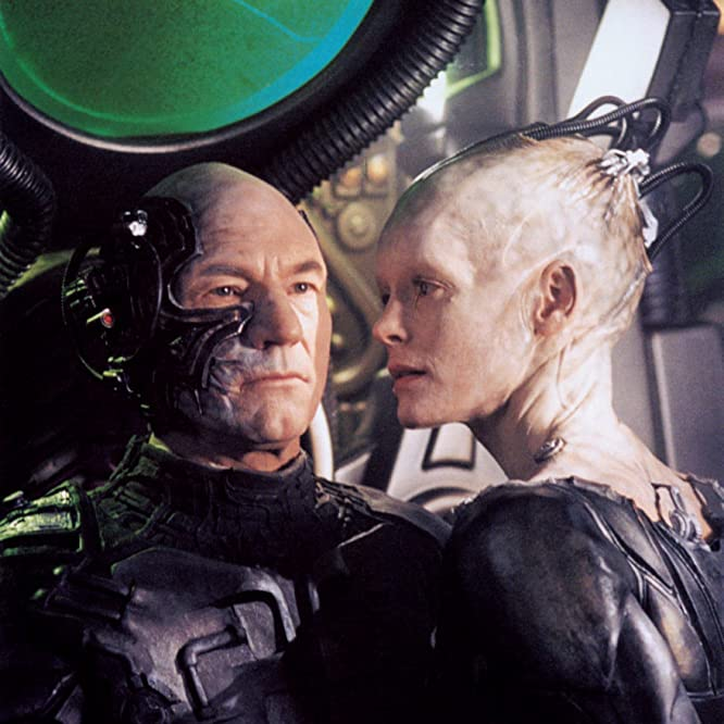 Alice Krige and Patrick Stewart in Star Trek: First Contact (1996)