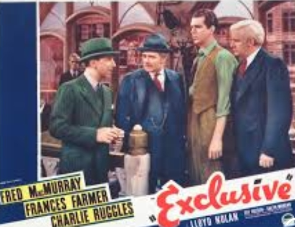 Fred MacMurray, Lloyd Nolan, Edward H. Robins, and Charles Ruggles in Exclusive (1937)