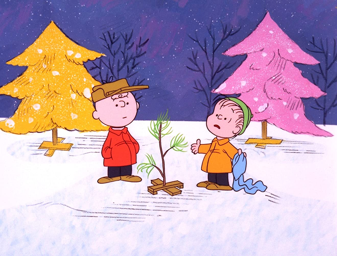 Peter Robbins and Christopher Shea in A Charlie Brown Christmas 1965