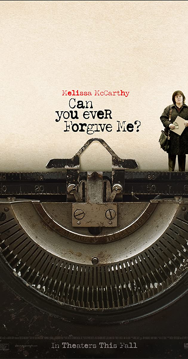Image result for Can you ever forgive me movie poster