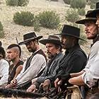 Ethan Hawke, Denzel Washington, Vincent D'Onofrio, Lee Byung-hun, Chris Pratt, Manuel Garcia-Rulfo, and Martin Sensmeier in The Magnificent Seven (2016)