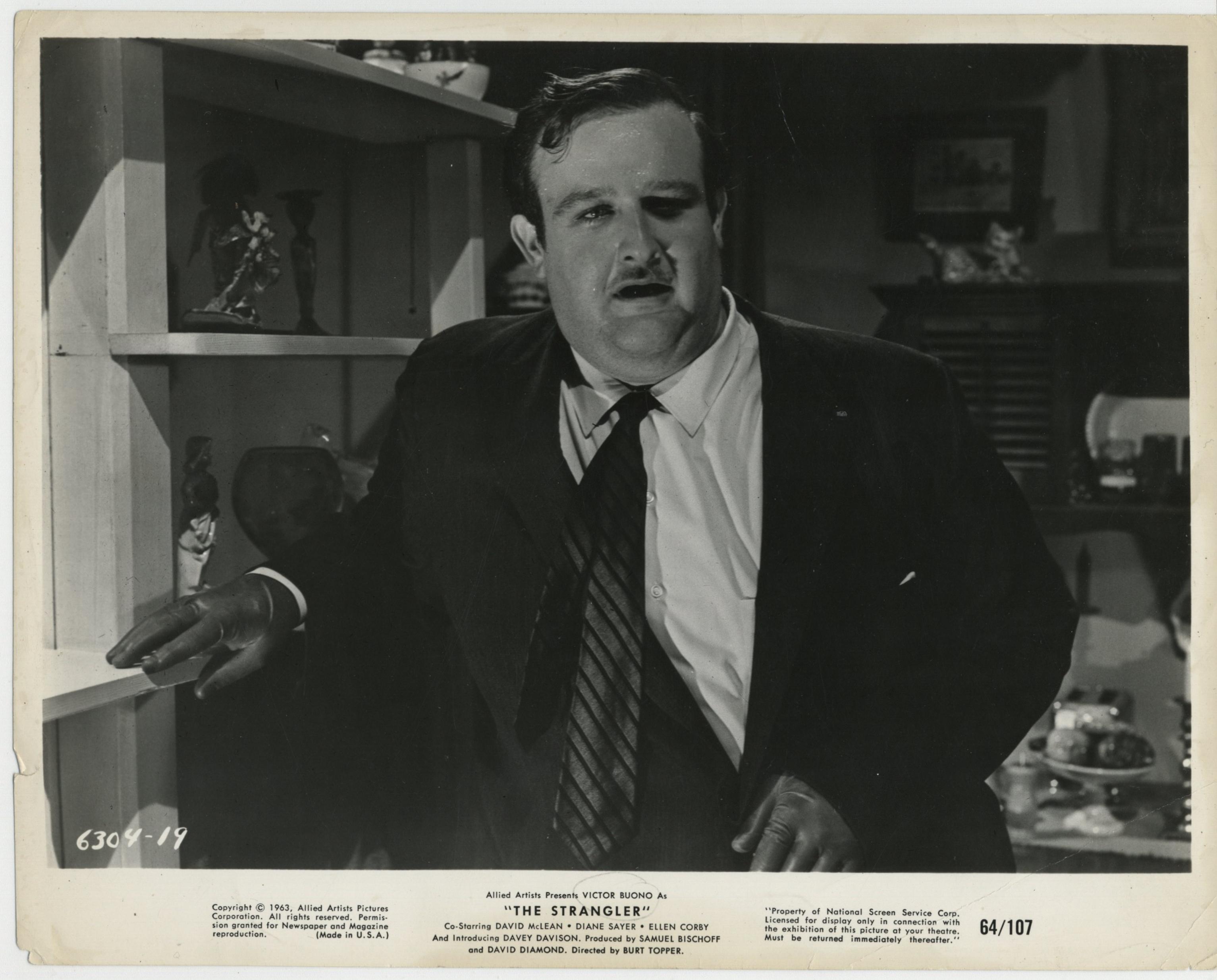 Victor Buono in The Strangler (1964)