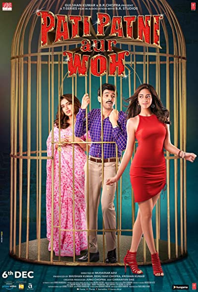 Poster of Pati Patni Aur Woh 2019 Full Hindi Free Download Watch Online In HD Movie Download 720p HDRip
