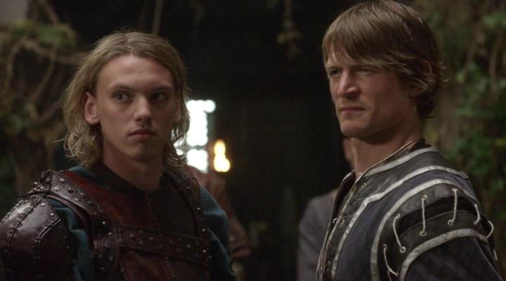 Philip Winchester and Jamie Campbell Bower in Camelot (2011)