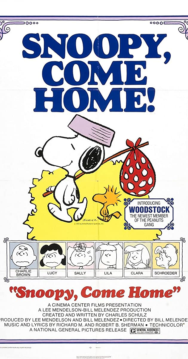 Subtitle of Snoopy Come Home