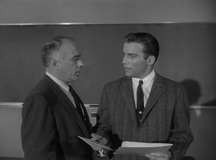 William Shatner and Edward Platt in The Explosive Generation (1961)
