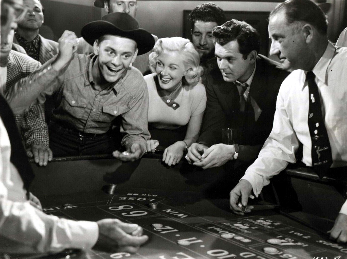Jan Sterling, Carleton Carpenter, and Forrest Lederer in Sky Full of Moon (1952)