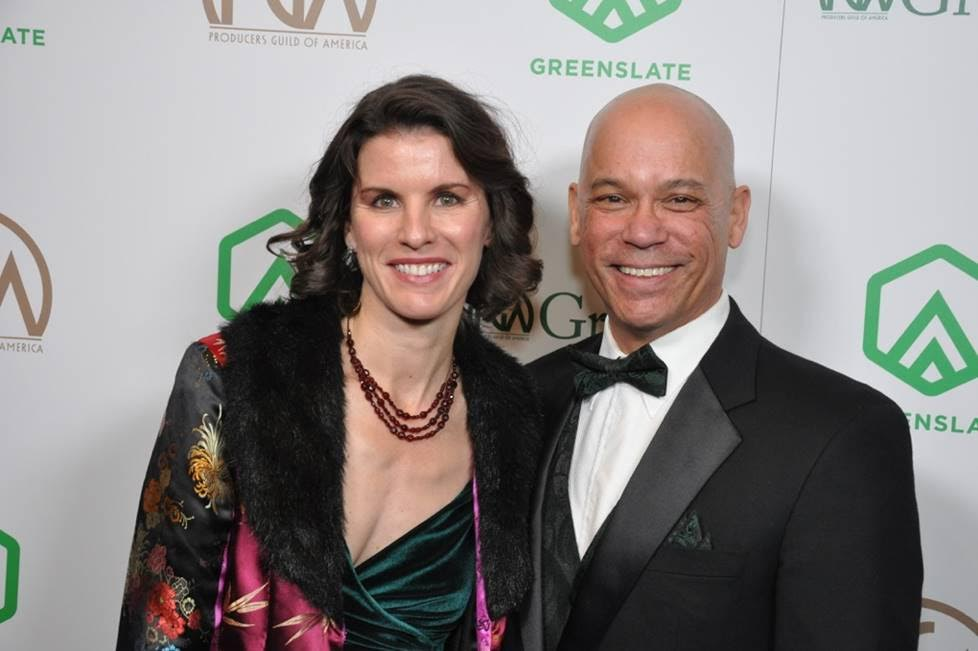 At the 2018 Producers Guild of America Awards with producing partner Penelope Korff