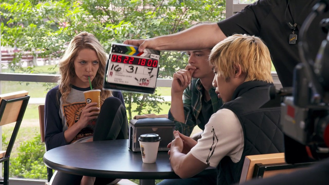 Jessica Rothe, Israel Broussard, and Phi Vu in Happy Death Day 2U (2019)