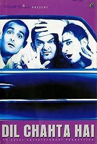 Aamir Khan, Saif Ali Khan, and Akshaye Khanna in Dil Chahta Hai (2001)