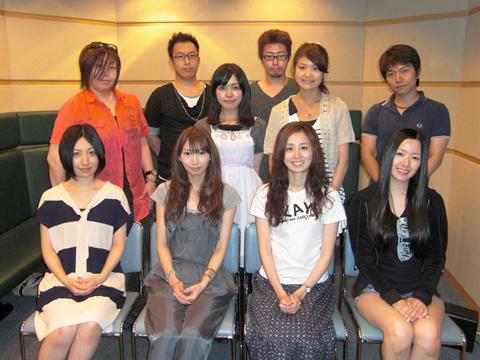 Megumi Ogata, Maaya Sakamoto, and Marina Inoue at an event for Persona 3 Portable (2009)