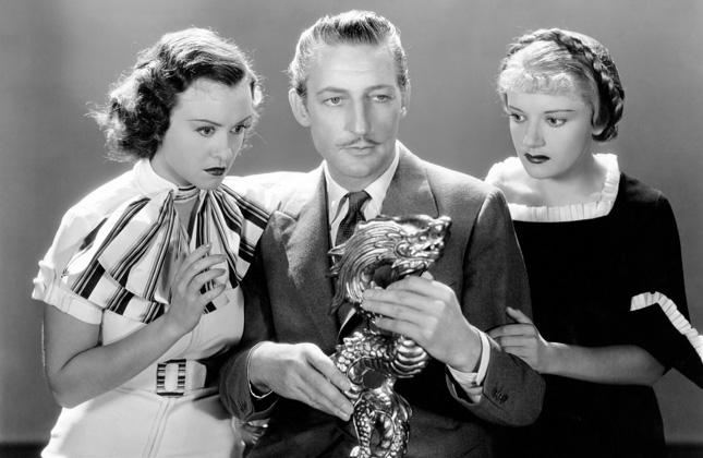 Margaret Lindsay, Dorothy Tree, and Warren William in The Dragon Murder Case (1934)