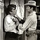 Robert Evans and Hugh O'Brian in The Fiend Who Walked the West (1958)