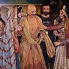 Bobby Deol, Akshay Kumar, Pooja Hegde, and Kriti Sanon at an event for Housefull 4 (2019)