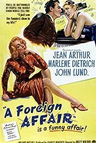 Marlene Dietrich, Jean Arthur, and John Lund in A Foreign Affair (1948)