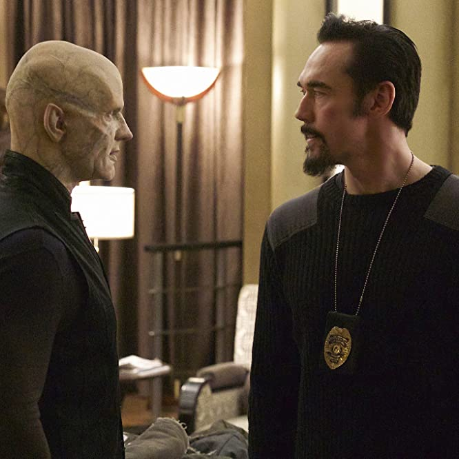 Kevin Durand and Rupert Penry-Jones in The Strain (2014)