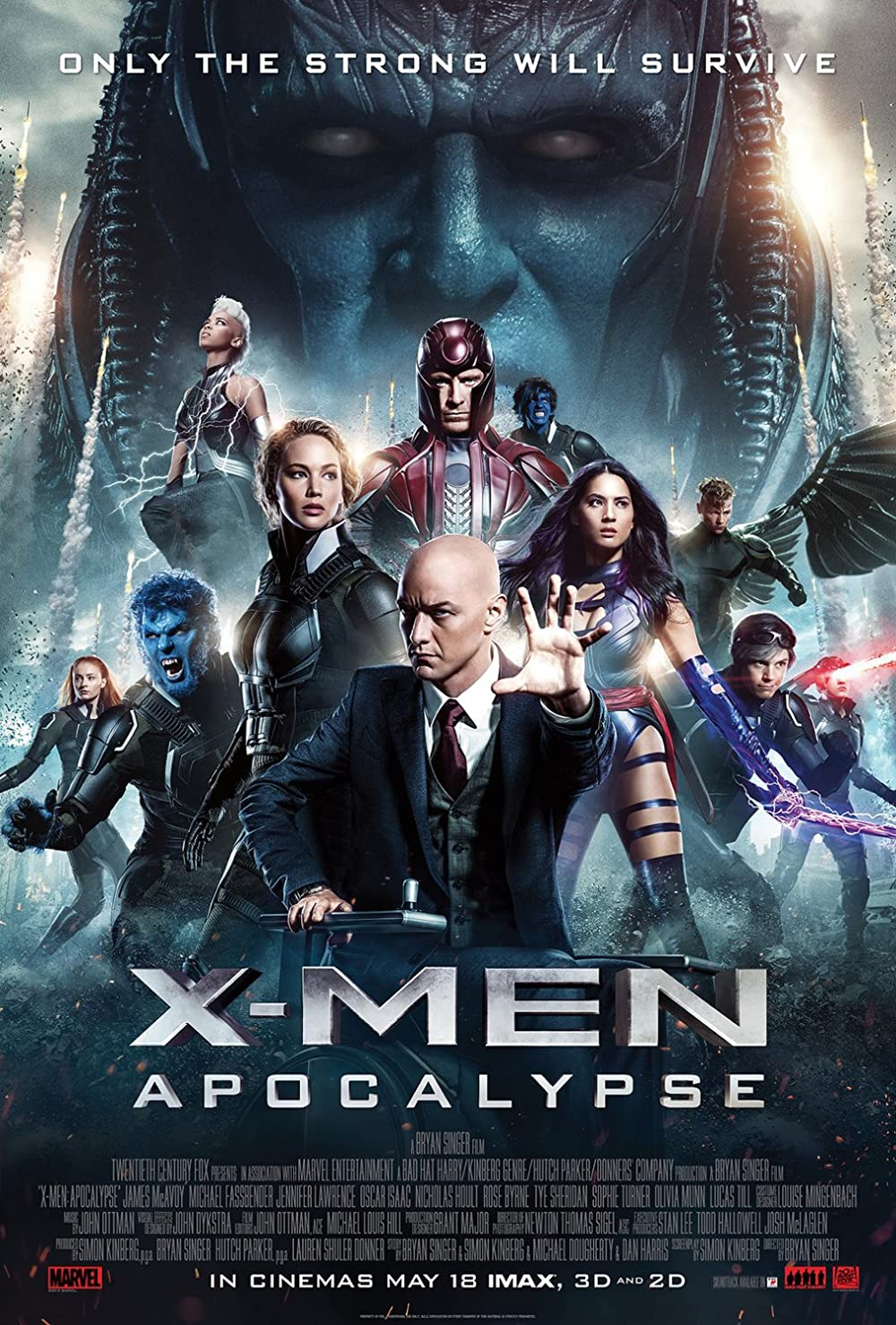 X-Men Apocalypse 2016 Hindi Dual Audio 720p BluRay ESubs 1050MB Download